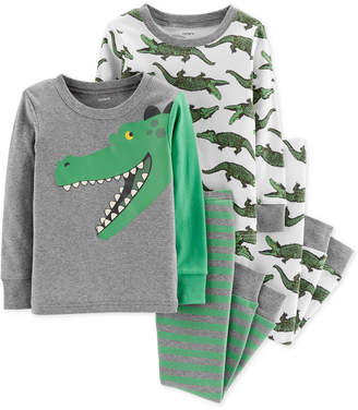 Carter's Baby Boys 4-Pc. Snug-Fit Cotton Alligator Pajamas Set