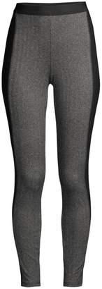 Eileen Fisher Herringbone Colorblock Ankle Leggings