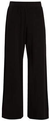 Velvet by Graham & Spencer Emily Velvet Panel Wide Leg Jersey Trousers - Womens - Black
