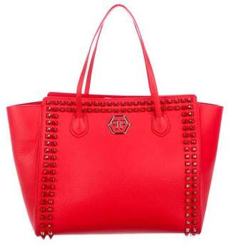 Philipp Plein Studdy Leather Tote