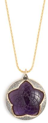 Noor Fares Sahasrara Amethyst & 18kt Gold Necklace - Womens - Purple