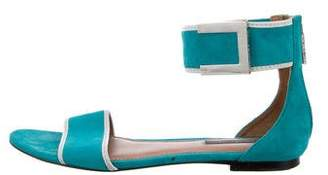 Rachel Zoe Suede Ankle Strap Sandals