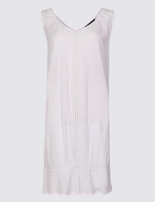 Marks and Spencer Cotton Rich Crinkle Swing Beach Dress
