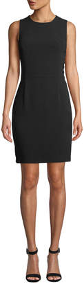 Neiman Marcus Ambassador Crepe Sleeveless Sheath Dress