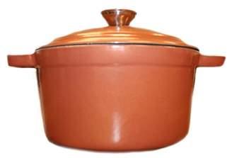 Copper Cast Iron 5 qt. Oval Covered Casserole