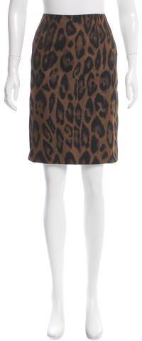 LanvinLanvin Leopard Print Mini Skirt