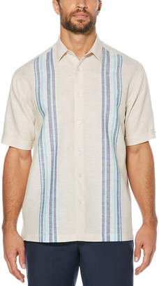 Cubavera Engineered Yarn Dye Panel Shirt