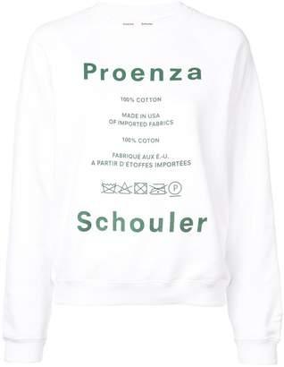Proenza Schouler Pswl Care Label Cotton Sweatshirt