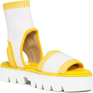 Max Studio viny : slip-on peep toe knitted sandals