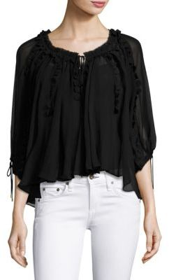 Elie Tahari Jocelyn Silk Blouse $368 thestylecure.com