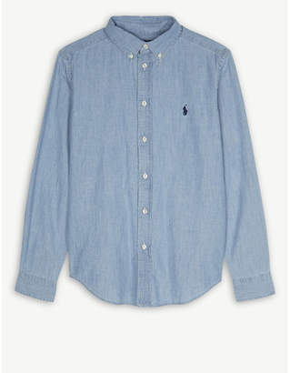 Ralph Lauren Embroidered brand logo chambray shirt 2-4 years