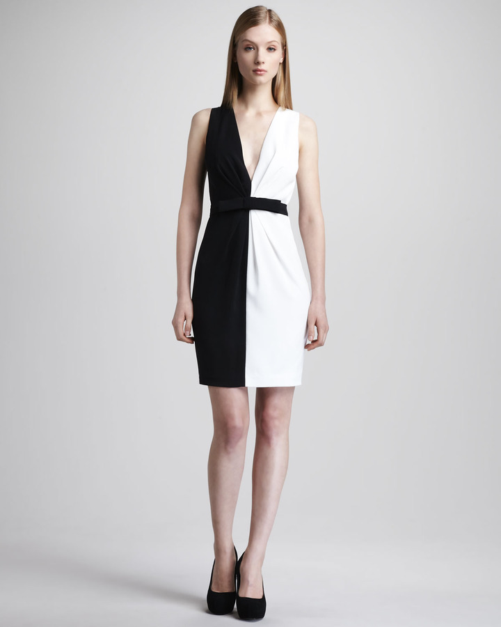 Robert Rodriguez Black Label Daisy Colorblock Dress