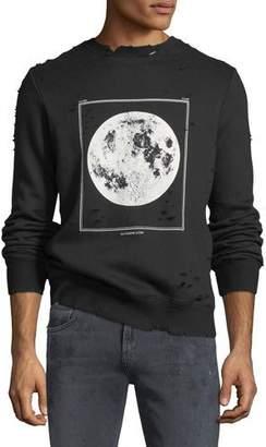 Ovadia & Sons Moon Graphic Distressed Sweatshirt