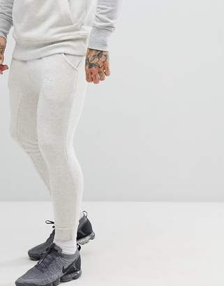 SikSilk skinny jogger in gray with panel