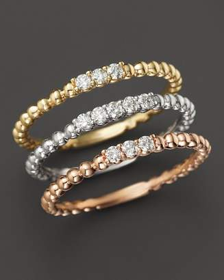 Bloomingdale's Diamond Band Set in 14K Yellow, White and Rose Gold, .25 ct. t.w. - 100% Exclusive