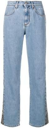 MSGM snakeskin effect stripe jeans