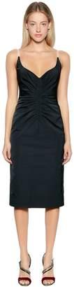 N°21 Ruched Duchesse Satin Dress
