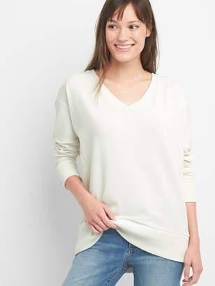 Gap V-Neck Pullover Tunic Sweatshirt