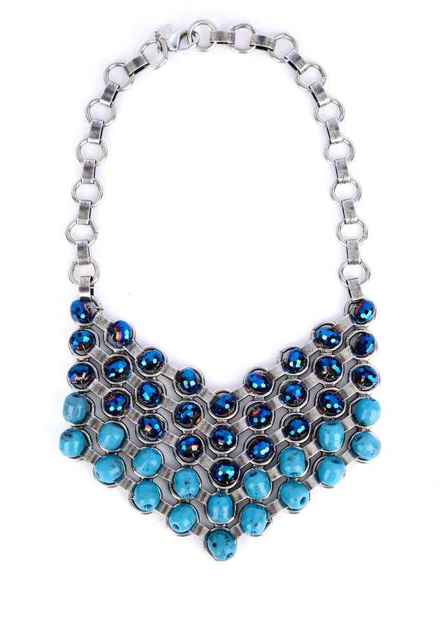Dannijo Eudlina Turquoise Crystal Necklace