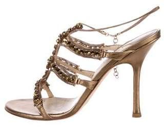 Jimmy Choo Embellished Metallic Sandals