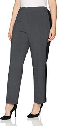 Nine West Women's Plus Size Bi Stretch Pant with Contrast Side Panel (2)