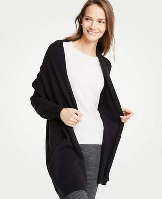 Ann Taylor Drop Shoulder Open Cardigan