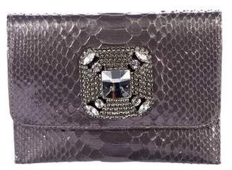 Carlos Falchi Fatto a Mano by Metallic Python Clutch