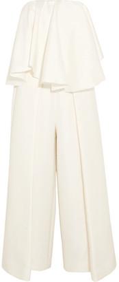 Solace London - Selena Satin Jumpsuit - White $480 thestylecure.com