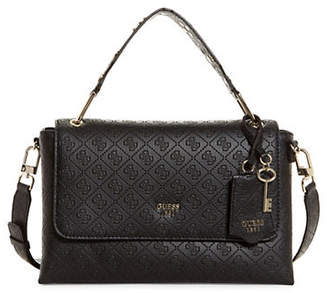 GUESS Coast to Coast Top Handle Flap Bag