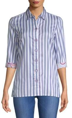 Robert Graham Tori Striped Cotton Button-Down Shirt