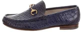 Gucci Horsebit Crocodile Countryside Loafers