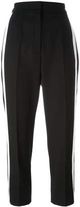 Dolce & Gabbana contrast piped cropped trousers