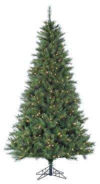 Fraser Hill Farms Smart String Pre-Lit Canyon Pine Artificial Christmas Tree - White - 10 Ft.