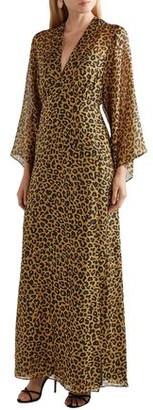 Mason by Michelle Mason Wrap-effect Leopard-print Silk-chiffon Maxi Dress