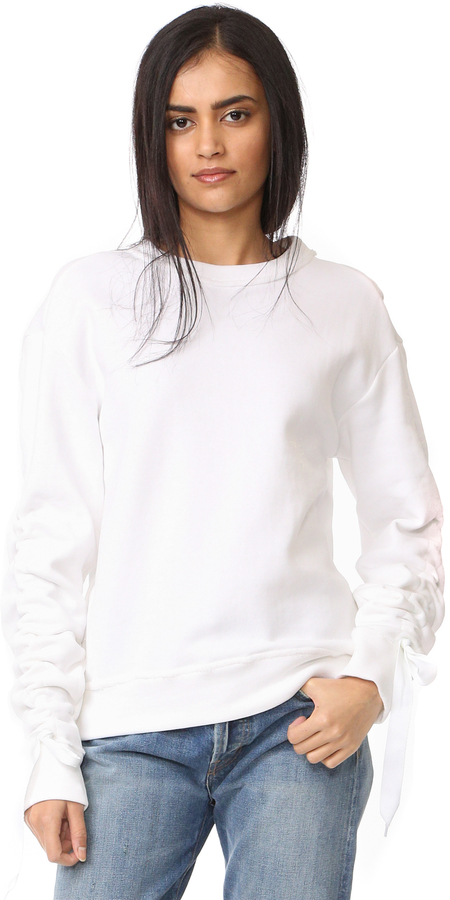 DKNY Pullover with Ruched Ties