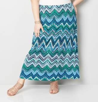 Avenue Chevron Maxi Skirt