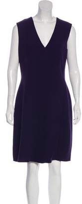 Armani Collezioni Wool Sleeveless Knee-Length Dress