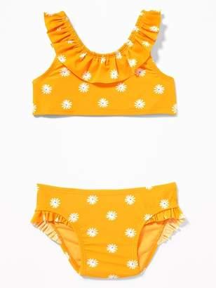 Old Navy Printed Ruffle Bikini Swim Set for Toddler Girls