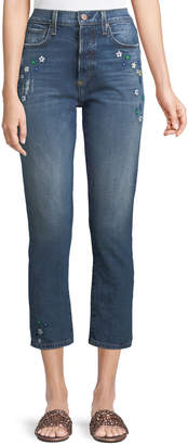 Neiman Marcus Ao.La By Alice+Olivia Amazing High-Rise Ankle Girlfriend Jeans
