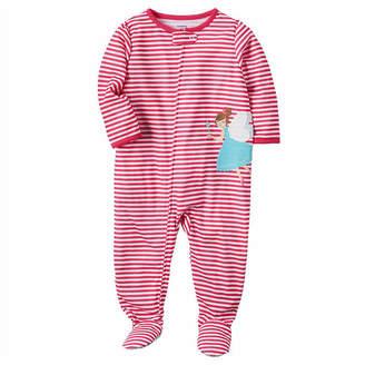 Carter's Girls Knit One Piece Pajama Long Sleeve Crew Neck
