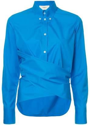 Ports 1961 draped front shirt