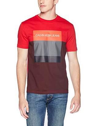Calvin Klein Jeans Men's Fashion Logo Short Sleeve Crew Neck T-Shirt