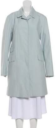 Burberry Nova Check-Lined Knee-Length Coat