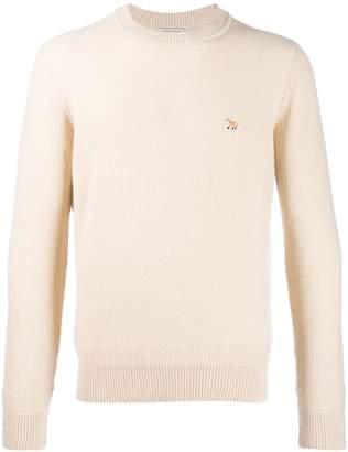 MAISON KITSUNÉ fox patch long sleeved jumper