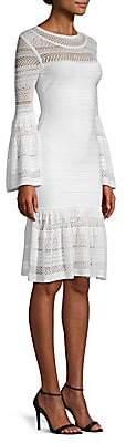 Herve Leger Women's Knit Bell-Sleeve Bandage Dress
