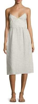 Theory Melaena B Striped Linen Dress