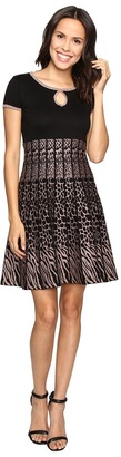 Christin Michaels Saida Short Sleeve Sweater Dress with Keyhole $84 thestylecure.com
