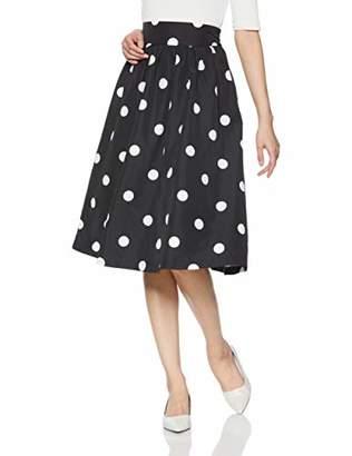 dazzlin (ダズリン) - [ダズリン] スカート 【S】ポルカドットスカート 021920800201 ブラック 日本 S (日本サイズS相当)
