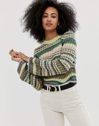 285f468cbf7 Asos Design DESIGN twist yarn chunky jumper with flared sleeve