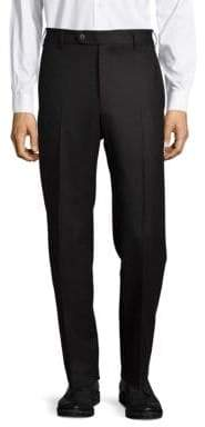 Zanella Devon Flat-Front Virgin Wool Pants